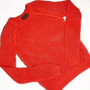 Fenn Wright Manson Orange Cable Knit Sweater